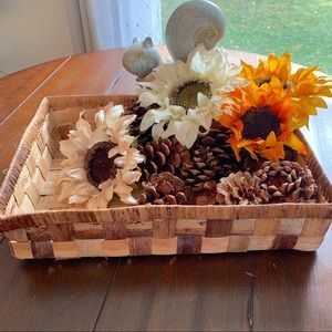 Rectangle Woven Straw Basket